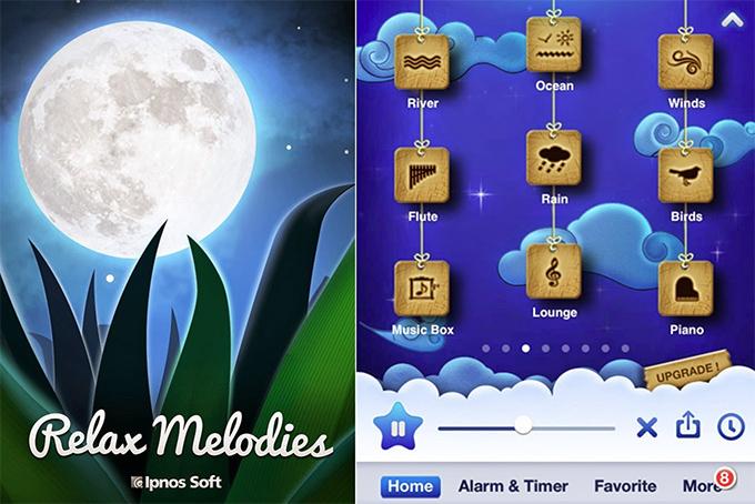 App que ajuda a dormir relax melodies