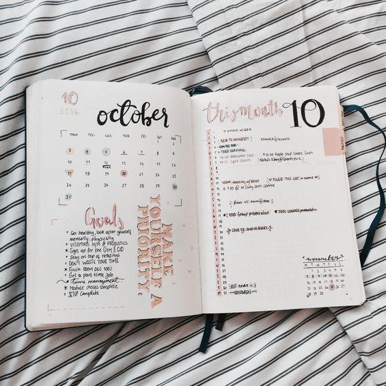 Calendar Ideas Tumblr : Inspirações para você fazer seu bullet journal chat feminino