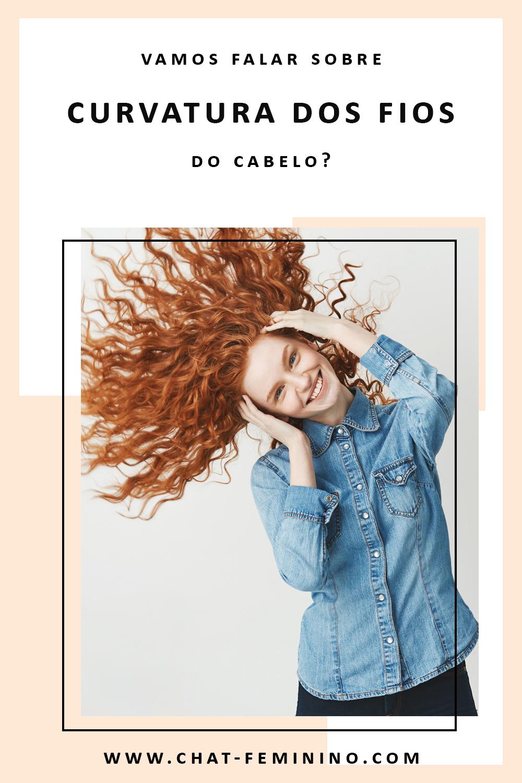 Curvatura dos fios do cabelo
