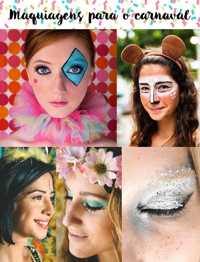 Maquiagens para o Carnaval
