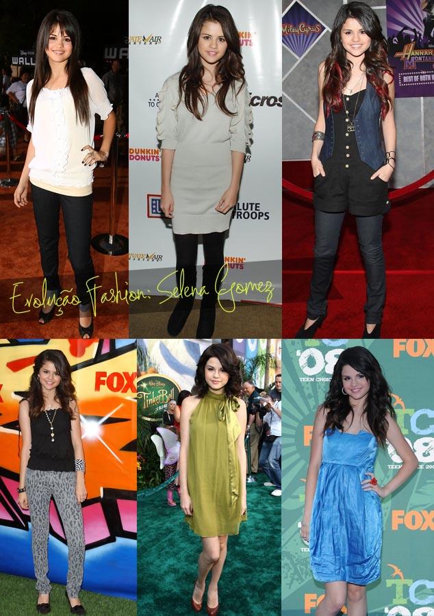 Evolução fashion da cantora e atriz Selena Gomez