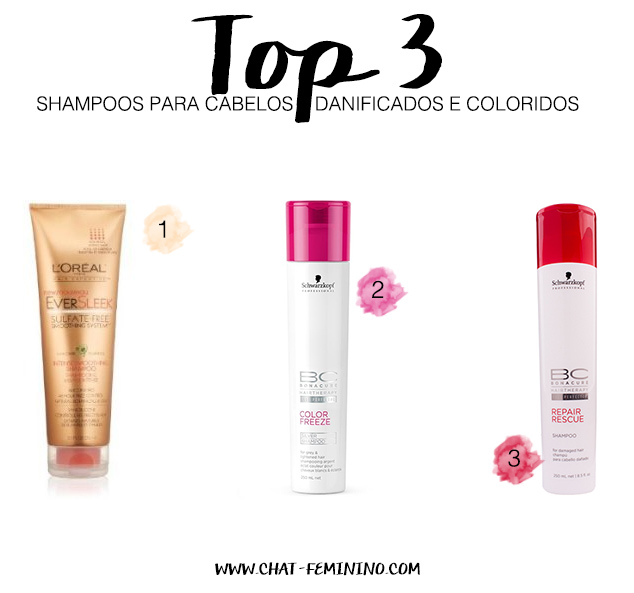 shampoo para cabelos coloridos e danificados